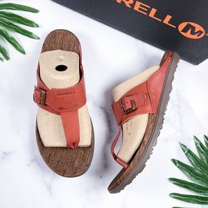 NIB Merrell Around Town Luxe Post Thong Sandal 9